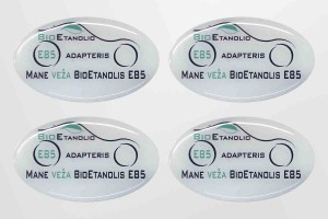 Polimeriniai lipdukai automobiliui BioEtanolis