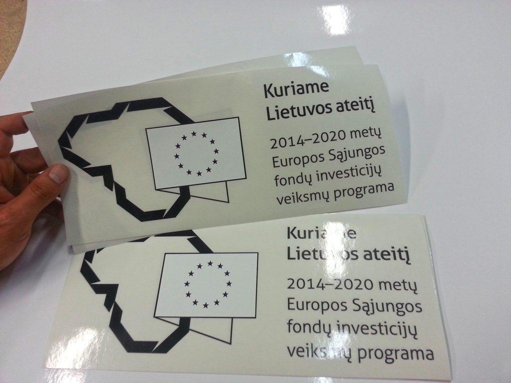 ES-paramos-viesinimo lipdukai-automobiliams-zymeti