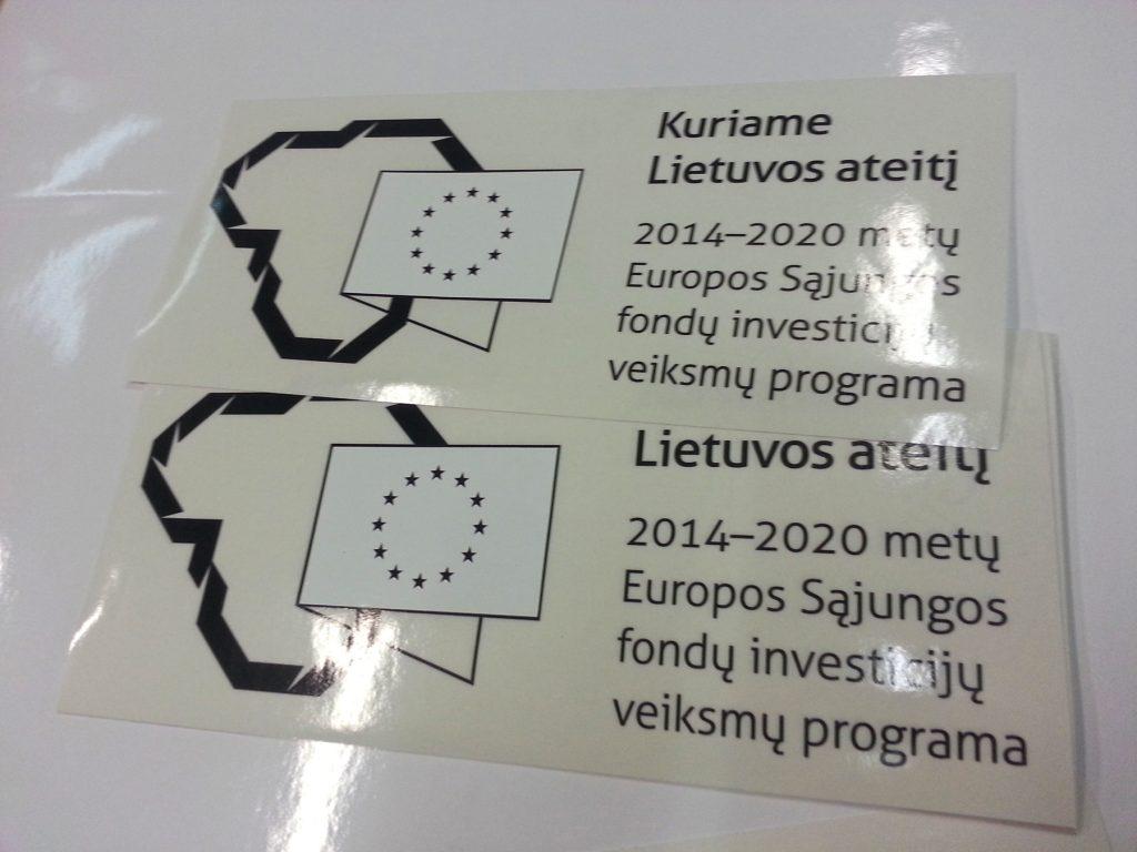 Lipdukai automobiliams ES paramos viešinimui